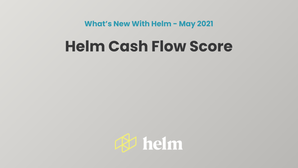 Watch this webinar to learn more about Helm's cash flow health score